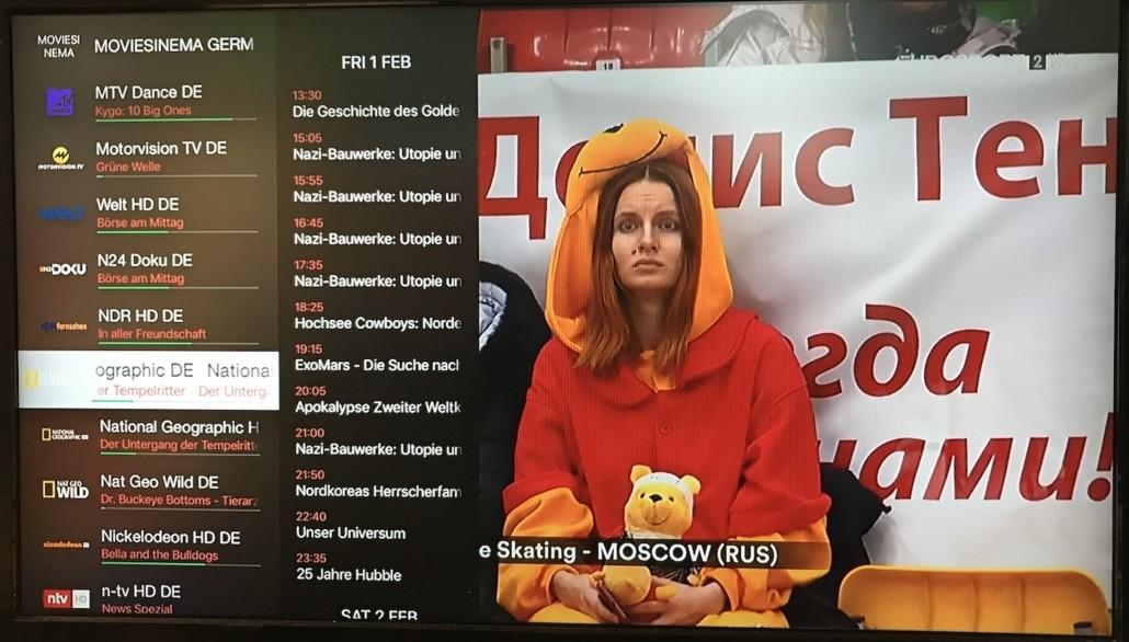 iPlayTV - Liste des chaînes avec EPG