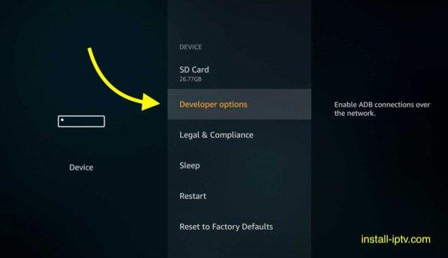 Fire TV stick - Developer options