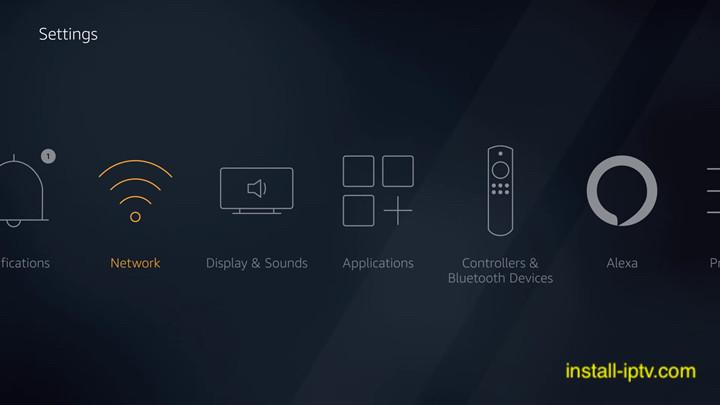 Fire TV stick settings page